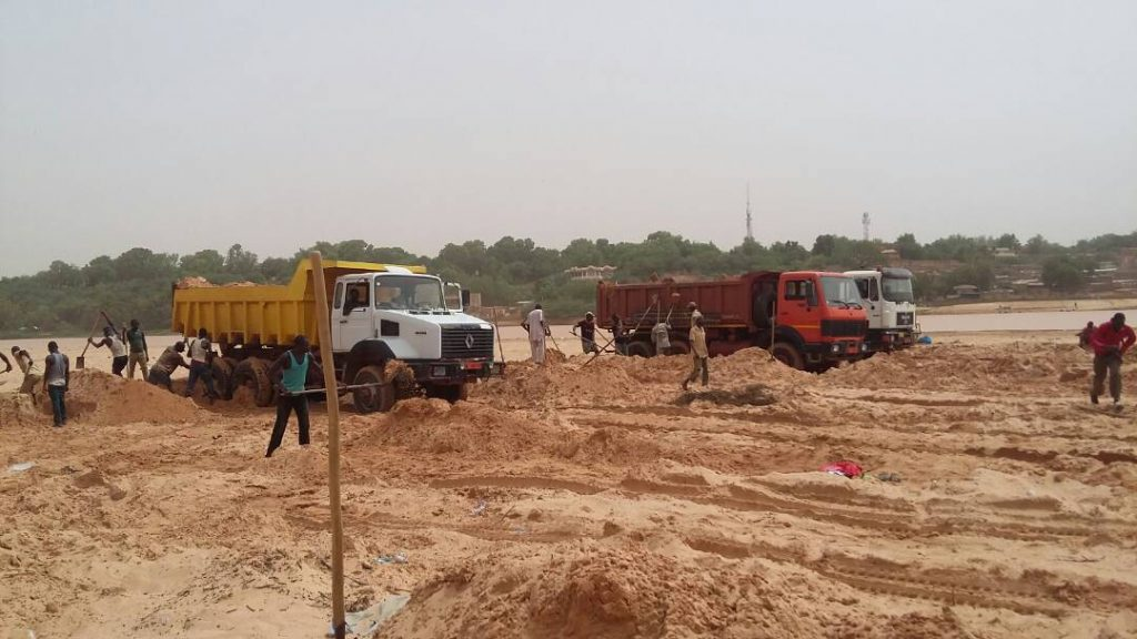 Desensablement du fleuve Niger