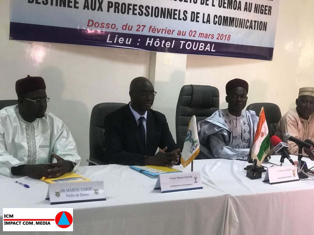 DOSSO : L'UEMOA ouverture d'une session spéciale au profit des journalistes