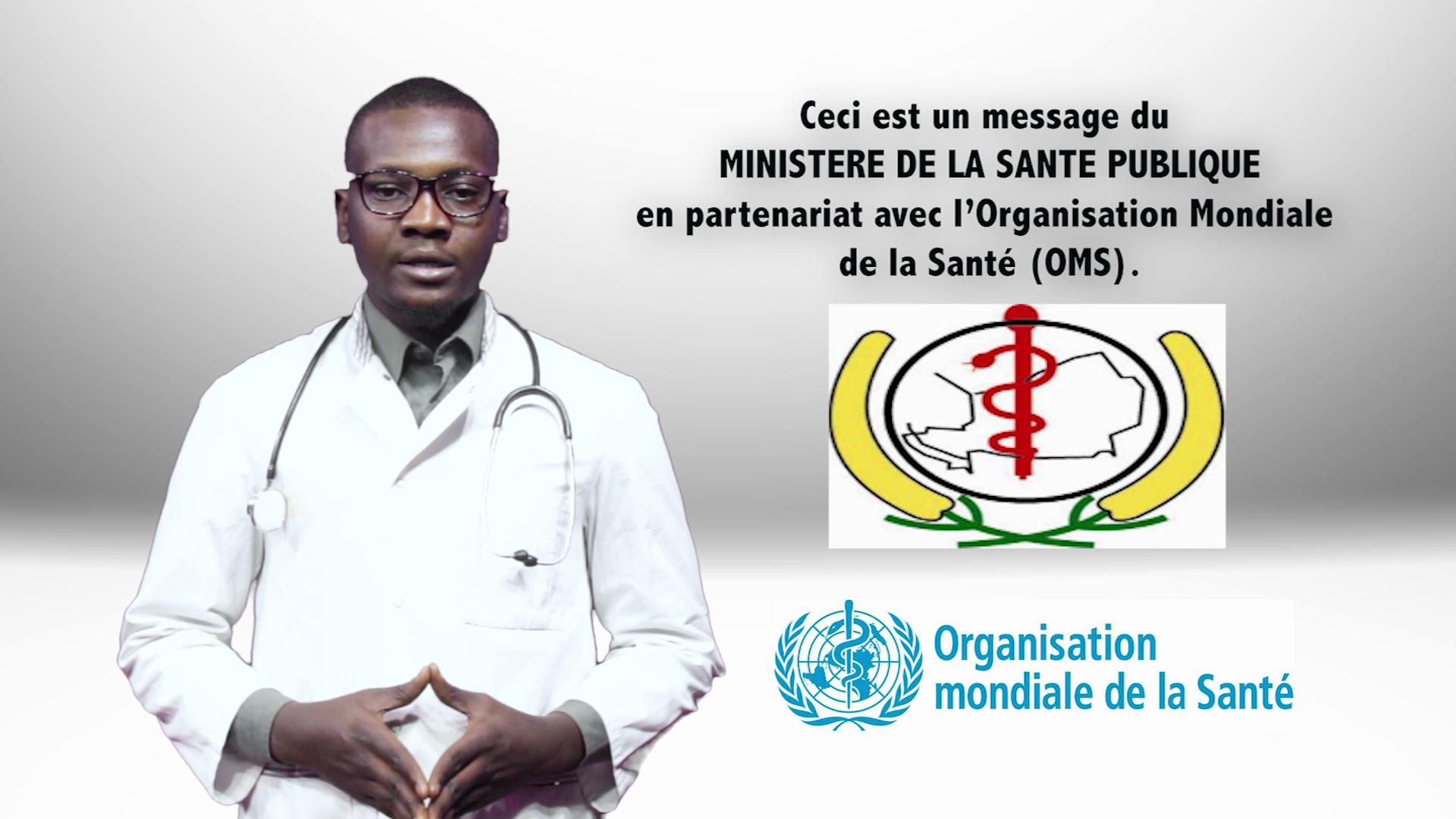 Message du Ministère de la Santé Publique et l'OMS