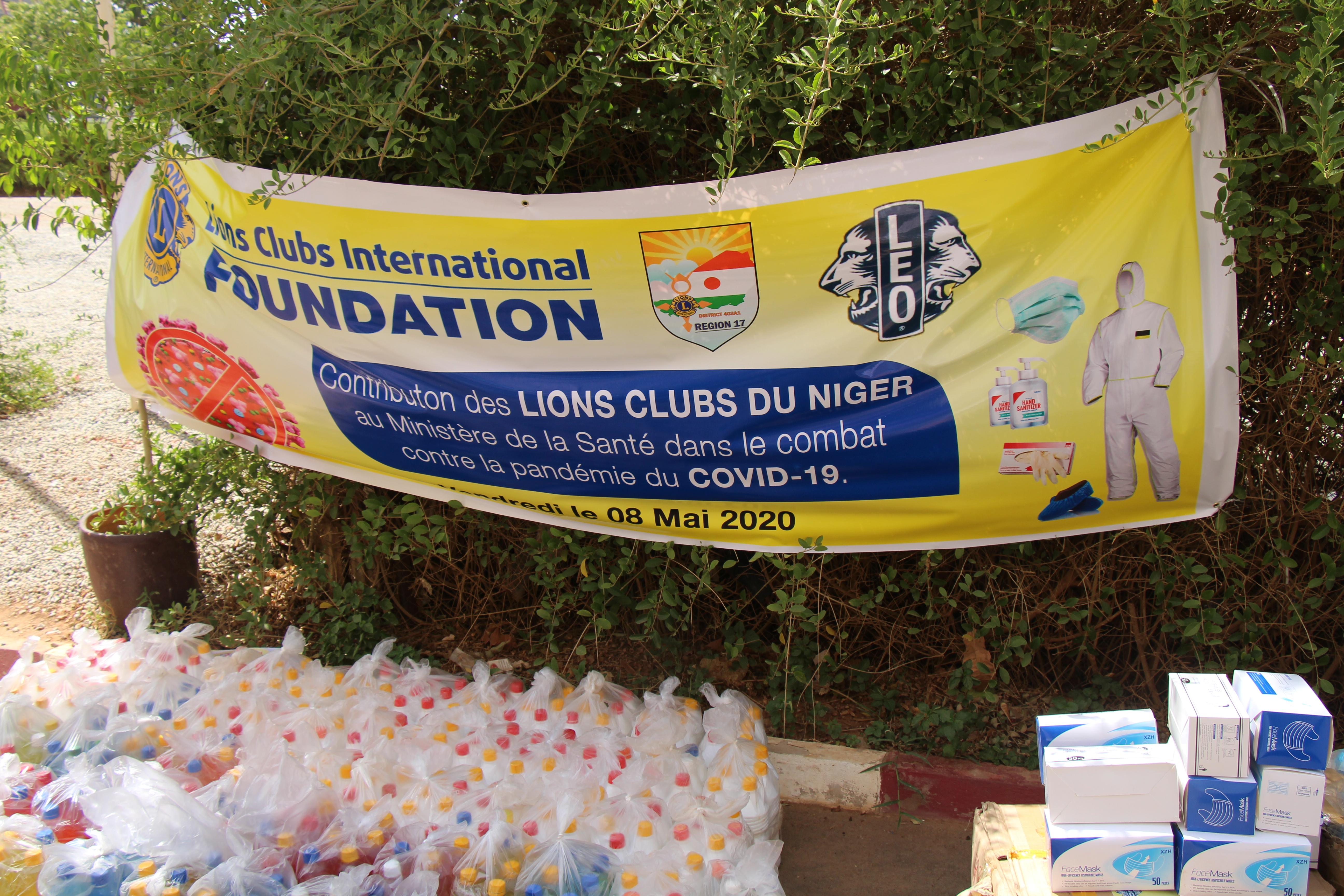 Lions Clubs du Niger répond au COVID-19