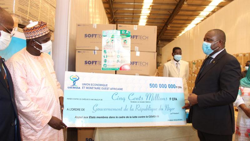 Plan national de riposte contre la COVID-19: l'UEMOA apporte sa contribution significative au Niger