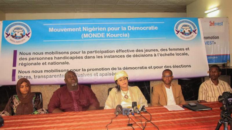 POINT DE PRESSE DU BUREAU EXECUTIF DU MOUVEMENT NIGERIEN POUR LA DEMOCRATIE (MONDE KOURCIA) A NIAMEY.