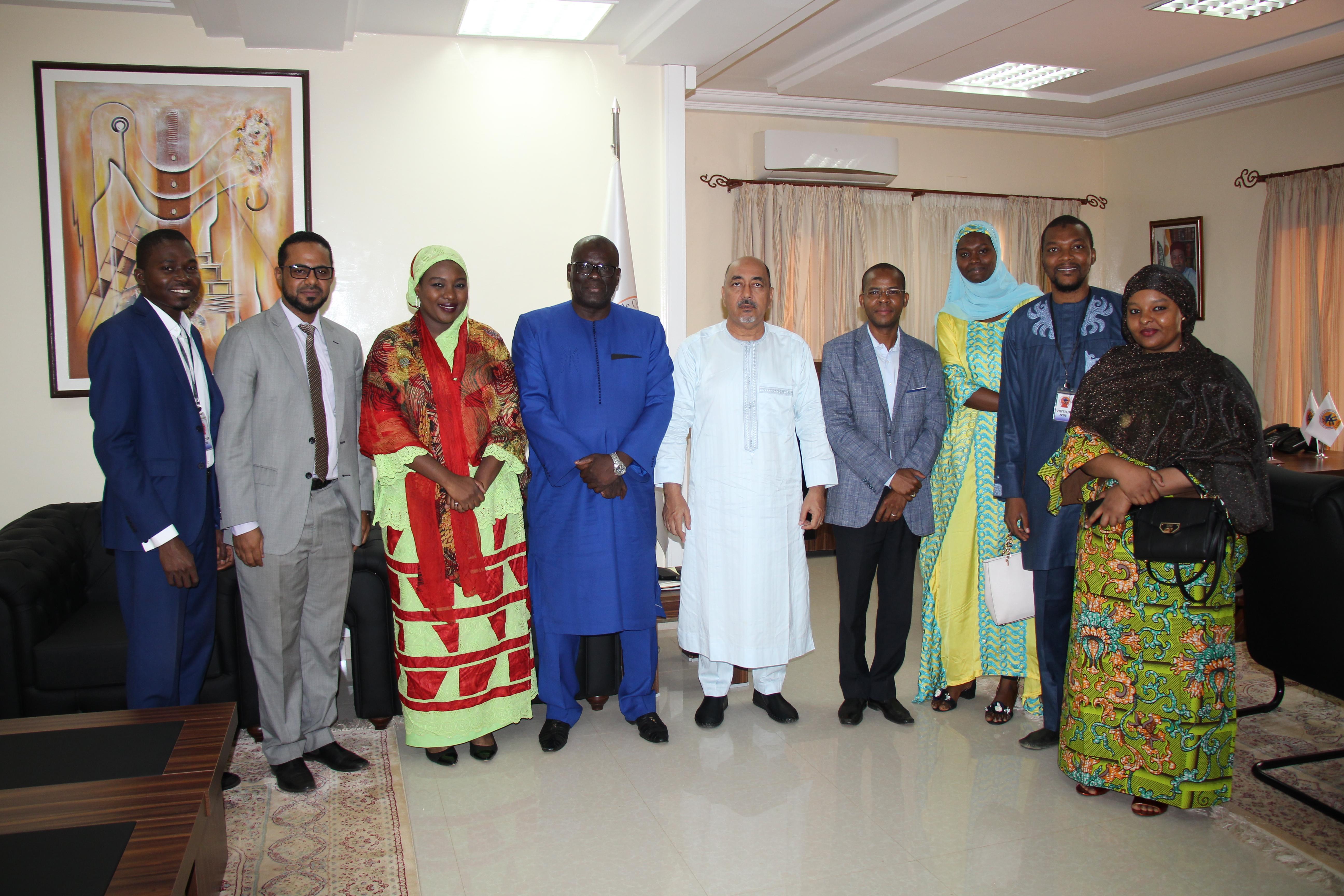 Rencontre du bureau de l'Association Nigérienne des Jeunes Entrepreneurs (ANJE) et le Président de la Chambre de Commerce et d'Industrie du Niger