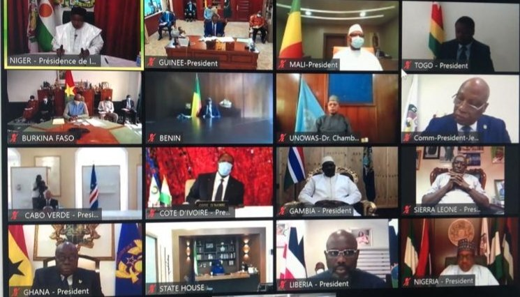 CEDEAO: Première session virtuelle extraordinaire des chefs d'Etat sur COVID-19