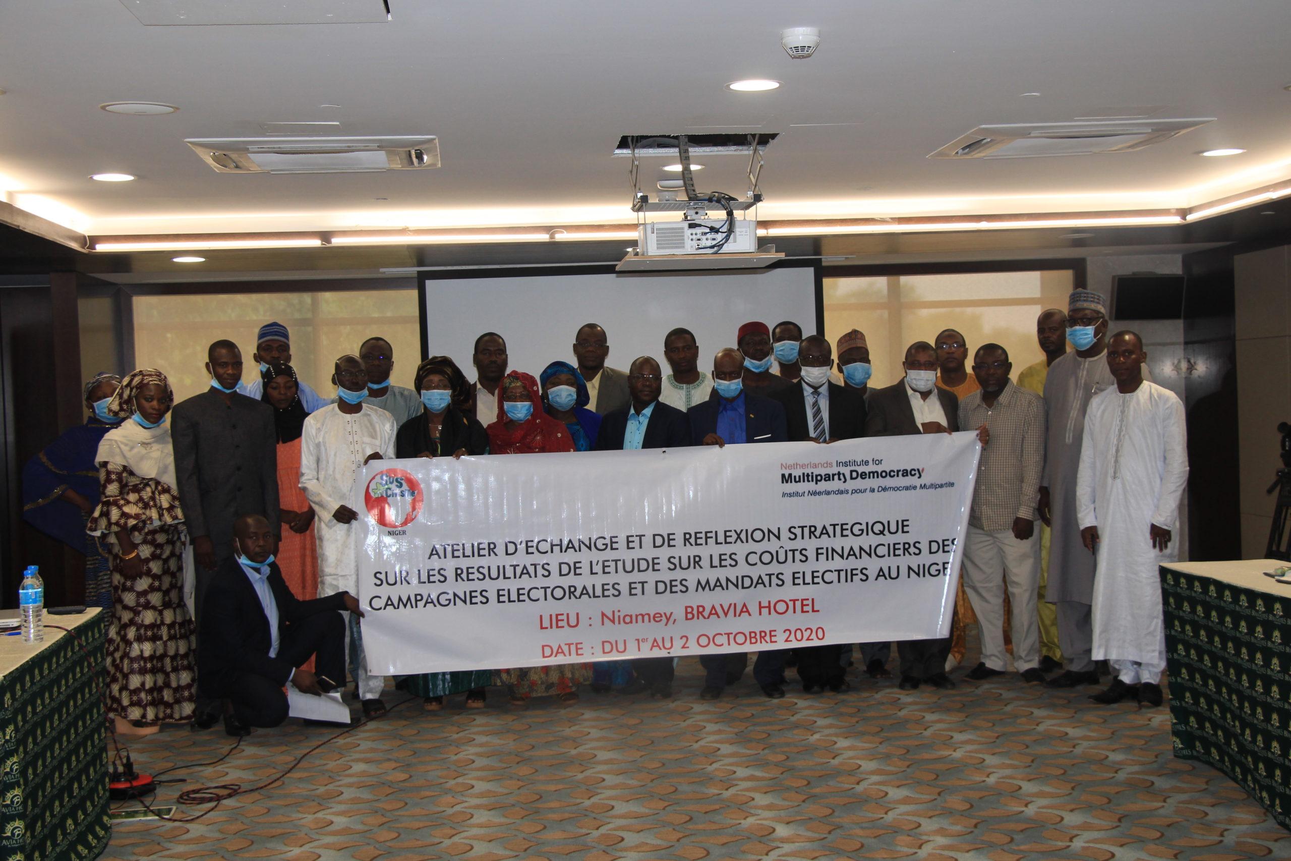 L'ONG SOS-Civisme Niger en collaboration avec le NIMD a organisé un atelier d'échanges sur les couts financiers des campagnes électorales et des mandats électifs