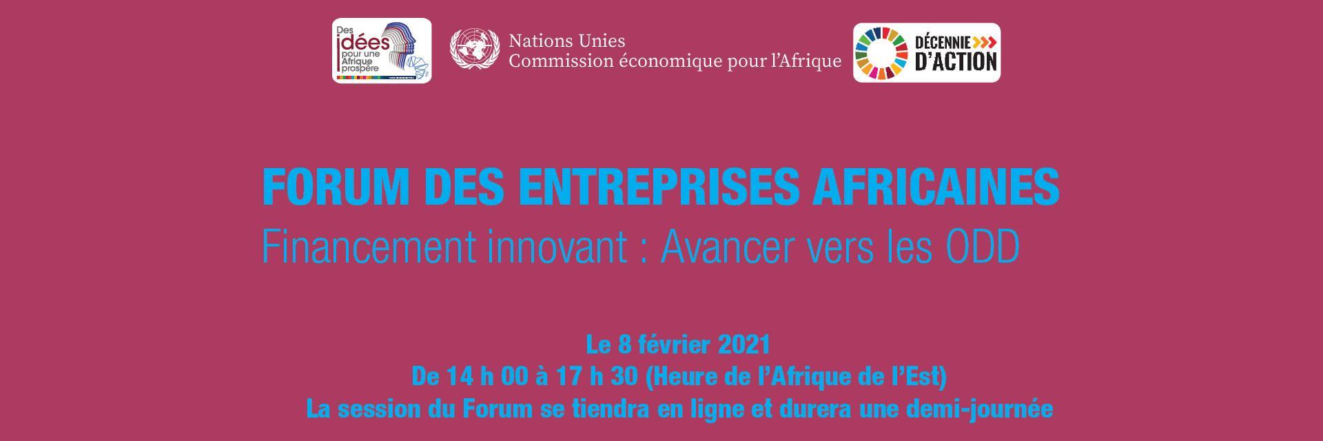 4ème édition du Forum des Entreprises Africaines 2021