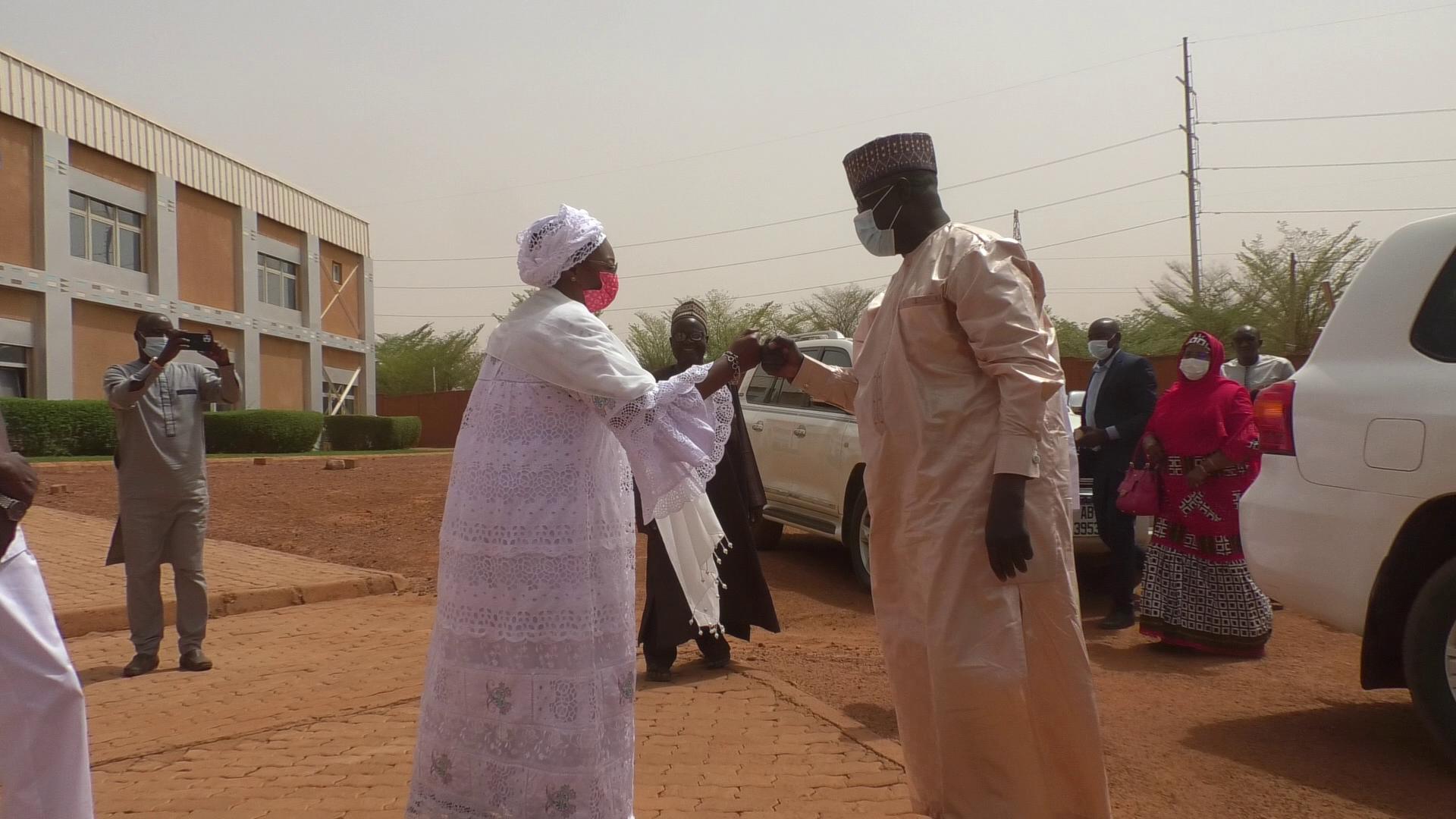 Série de visites dans des marchés de Niamey